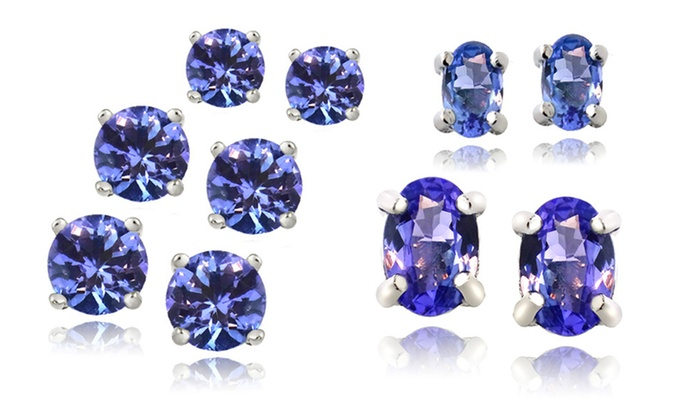 Sterling Silver Tanzanite Stud Earrings: Sterling Silver Tanzanite Stud Earrings. Multiple Styles Available from $14.99–$29.99. Free Returns.