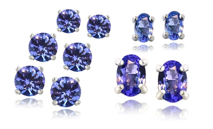 Sterling Silver Tanzanite Stud Earrings. Multiple Styles Available from $14.99–$29.99. Free Returns.
