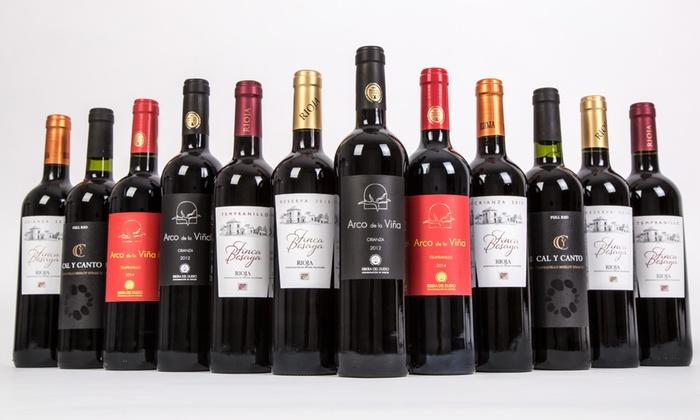 12 Bottles Mixed Spanish Red Wine   Groupon Goods
