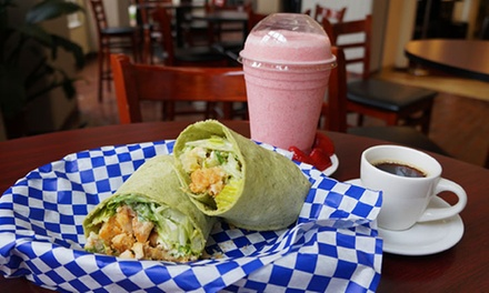 Coffee, Smoothies, and Sandwiches at Cafe Di Organo (Up to 52% Off). Two Options Available.