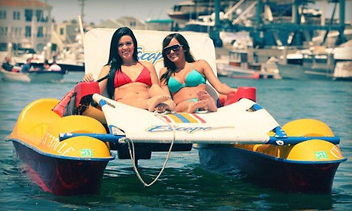 Newport Fun Tours - Newport Pier: Electric-Lounger, Solo Kayak, or Tandem Kayak Rental from Newport Fun Tours in Newport Beach (Up to 55% Off)
