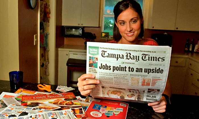"Tampa Bay Times: $10 for a One-Year Subscription to Sunday Home Delivery from ""Tampa Bay Times"" ($104 Value)"