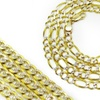 2-Tone Chain Necklace with 18K Gold and White Gold Plating