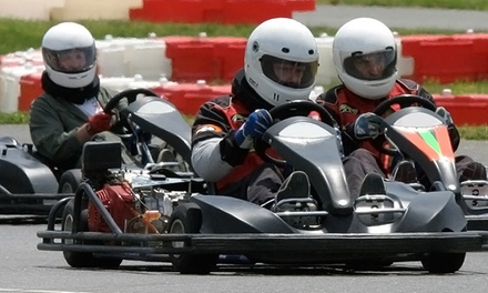 Two-Race Go-Karting Package for One or Two at New Jersey Motorsports Park (Up to 51% Off)