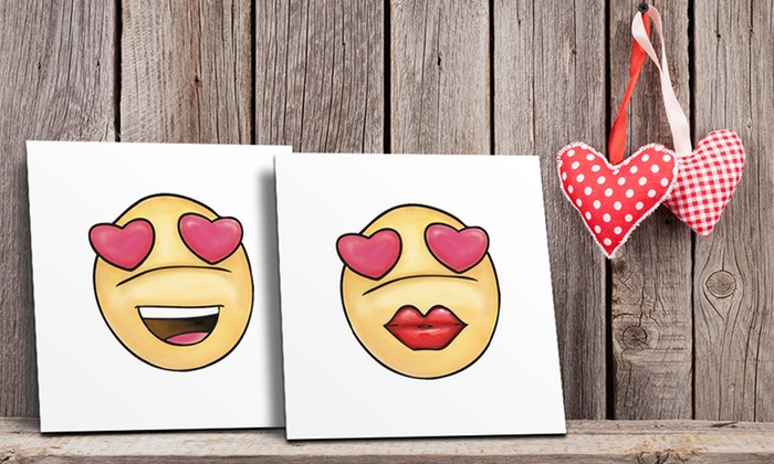 Canvas on Demand: Emoji Canvases from Canvas on Demand (Up to 83% Off)