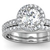 1.5 CTTW Pave Diamond Bridal Set In 14K White Gold