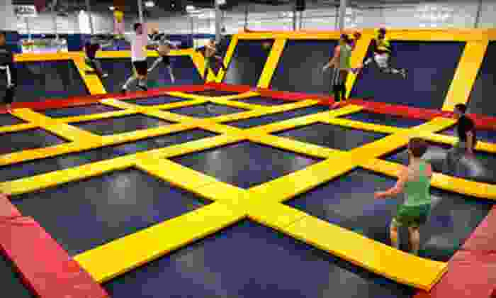 Sky High Sports - Niles: Two Hours of Trampoline Jump Time Monday–Thursday or Friday–Sunday at Sky High Sports (Up to 48% Off)
