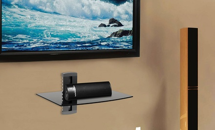 Argom tv wall mount shelf groupon goods for Wall cabinets for tv components
