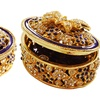 Round Metallic Jewelry Gift Box With Crystals