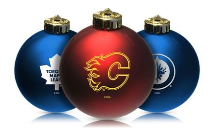 NHL Shatterproof Christmas Ball Ornament (4-Pack)