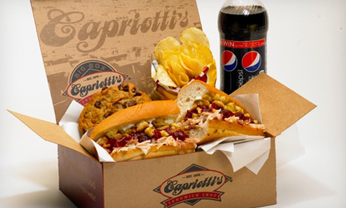 Capriotti's Sandwich Shop Phoenix - Multiple Locations: $25 for $50 Worth of Sub Party Trays, Box Lunches, or Meatball Bar at Capriotti's Sandwich Shop. Four Locations.
