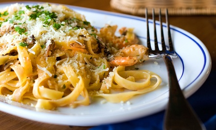 Italian Dinner with Appetizers, Dessert, and Wine for Two or Four at Cafe Italia (Up to 52% Off)