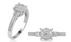 0.65 CTTW Diamond Engagement Ring in 10K White Gold