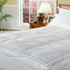 """Up to 72% Off Royal Majesty 4"""" Downtop Featherbed with Pillows"""
