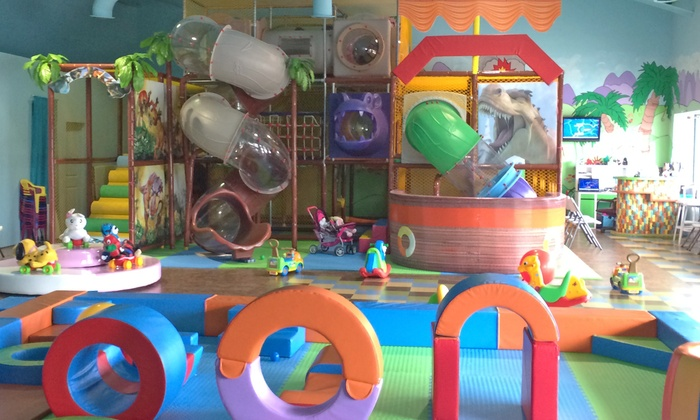 DinoZone Play & Party Centre - Erin Mills: 5 or 10 Indoor-Playground Admissions at DinoZone Play & Party Centre (50% Off)