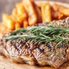 Sirloin Steak Meal with Wine