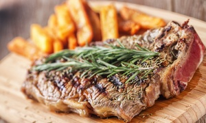 Marviks: Choice of Steak Meal with Wine for Two or Four at Marviks (Up to 50% Off)