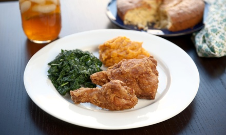 Southern Food for Dine-In or Takeout at Cupz Southern Style Cuisine (Up to 40% Off). Three Options Available.