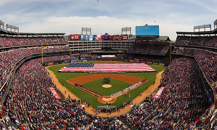 Texas Rangers - Globe Life Park in Arlington: San Francisco Giants vs Texas Rangers at Globe Life Park on August 2 (Up to 30% Off). Three Seating Options Available.
