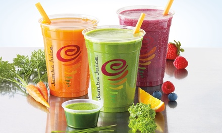 Three or Five Groupons, Each Good for One 12 Oz. Freshly Squeezed Juice at Jamba Juice (40% Off)