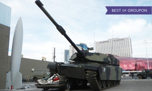 Battlefield Vegas: Gun-Rental or Tank Car-Crush Package at Battlefield Vegas (Up to 36% Off)