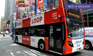 OPEN LOOP: One-Day Uptown and Downtown Double-Decker Bus Ticket from Open Loop New York (Up to 50% Off)
