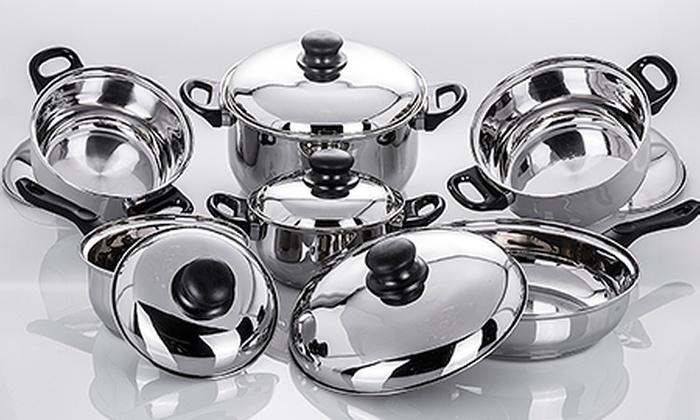 Groupon Goods Global GmbH: Batería de cocina de 12 piezas Harea de Santa Clara por 34,94 €