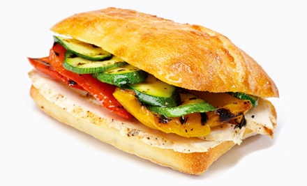Paninis, Soups, and Salads at Porta Via Restaurant (Half Off). Two Options Available.