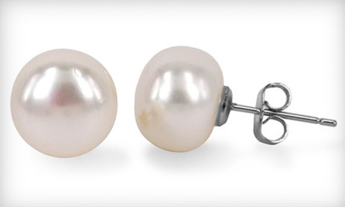 My Pacific Pearls: C$49 for One Pair of 10.5- to 11-Millimetre Pearl Stud Earrings with 14-Karat Gold-Filled Posts from My Pacific Pearls (US$175 Value)