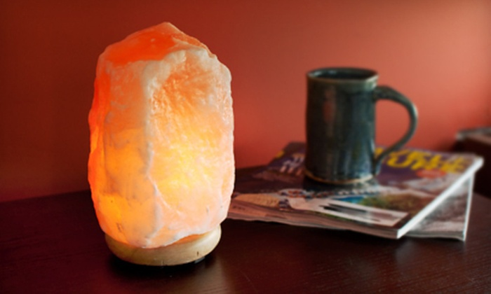 Himalayan Natural Salt Lamps: Himalayan Ionic Crystal Natural Salt Lamp (Up to 56% Off). Two Sizes Available. Free Shipping.
