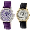 Sophie and Freda Monaco Crocodile-Embossed Leather Strap Watch