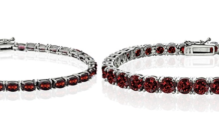 10.50–20.80 CTTW Garnet Tennis Bracelet in Sterling Silver from $29.99–$49.99