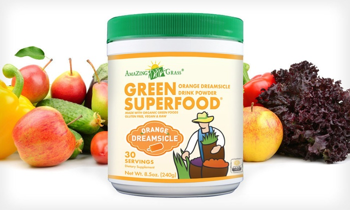 Amazing Grass Green SuperFood Drink: $19.99 for Amazing Grass Green SuperFood Orange Dreamsicle Drink Powder ($29.99 List Price). Free Shipping.