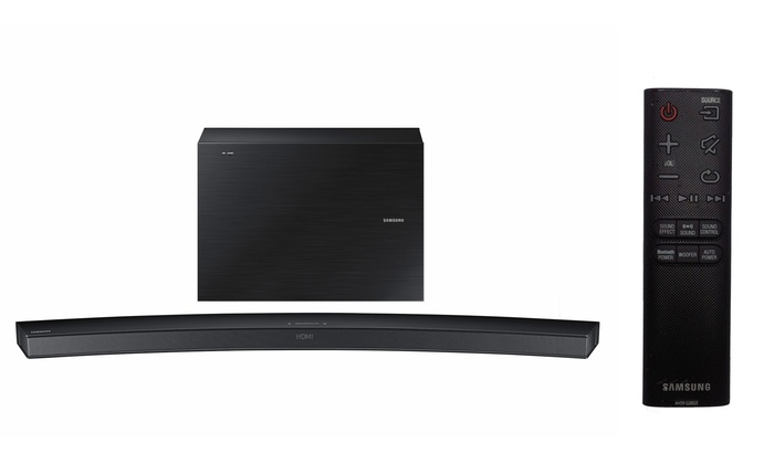 Samsung 6.1-Channel Curved Sound Bar with Wireless Active Subwoofer and Bluetooth (Manufacturer Refu...