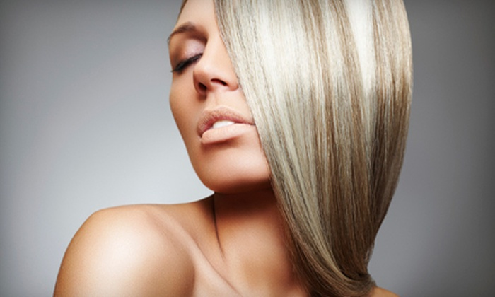 In the Buff Salon and Day Spa - Chattanooga: Haircut, Conditioning Treatment, and Style, or One Express Keratin Treatment at In the Buff Salon and Day Spa (Half Off)