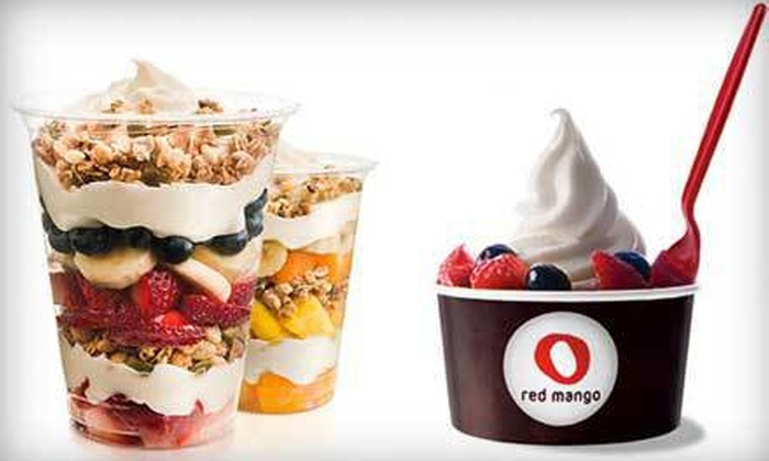Red Mango - Multiple Locations: Frozen Yogurt or Smoothies at Red Mango (Up to 55% Off). Four Options Available.