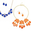 18-Karat Gold-Plated Statement Necklace and Earrings Sets