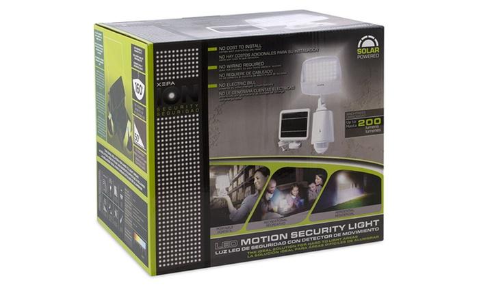 Xepa solar powered security light with motion sensor groupon xepa solar powered security light with motion sensor aloadofball Gallery
