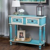 Wayne Antique Blue 2-Drawer Console Table