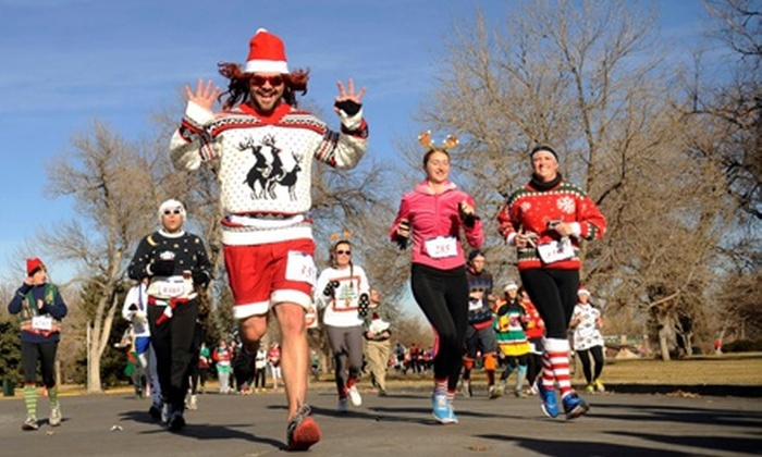 The Ugly Sweater Run - Lawrence: $20 for The Ugly Sweater Run 5K on Sunday, December 8 (Up to $39 Value)