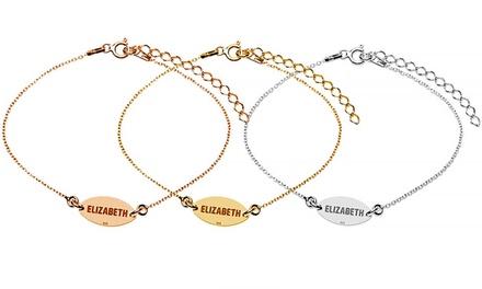 Uma ou duas pulseiras de prata personalizadas com gravação desde 12,90€