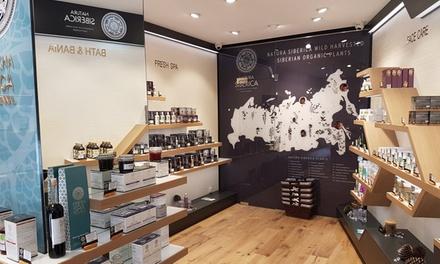 Paga 3 € o 5 € por un descuento de hasta 20 € en productos de Natura Siberica en dos tiendas