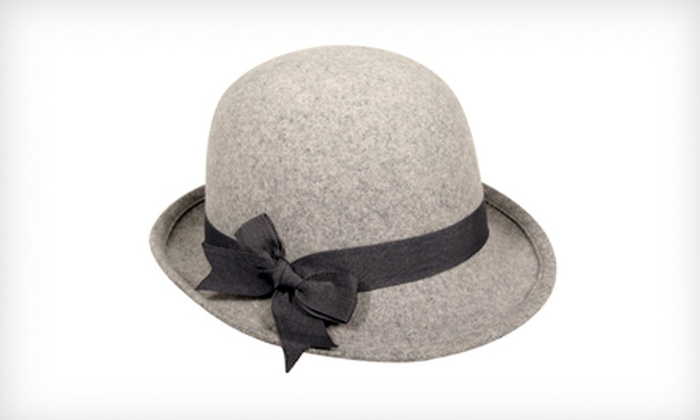 $19 for a Women's Glitz Cloche Hat in Black or Gray ($55 List Price). Three Sizes Available.