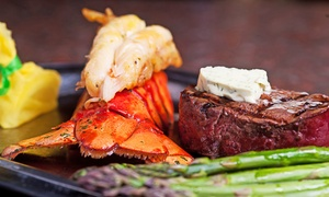 Mesquite Grill Steak & Seafood: Steak, Seafood, and Chicken at Mesquite Grill Steak & Seafood (Up to 42% Off). Two Options Available.