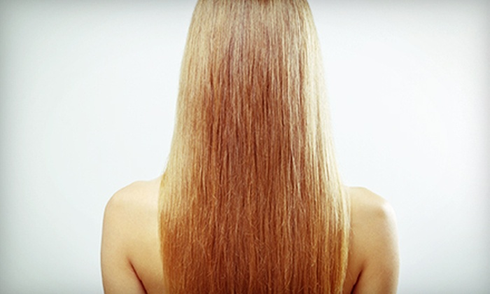 Hair by Shaz - Gateway Plaza: Haircut and Style with Keratin Treatment at Hair by Shaz (Up to 63% Off). Two Options Available.