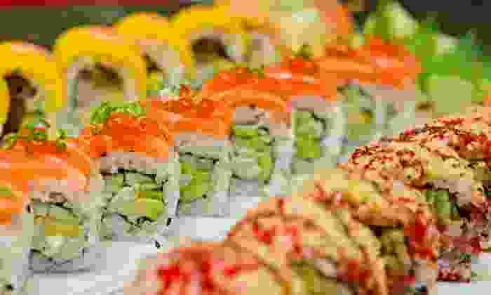 Maki Sushi & Noodle Shop - Park Ridge: $33 for Appetizer, Miso Soup or Salads, Sushi, and Beverages for Two at Maki Sushi & Noodle Shop (Up to $81 Value)