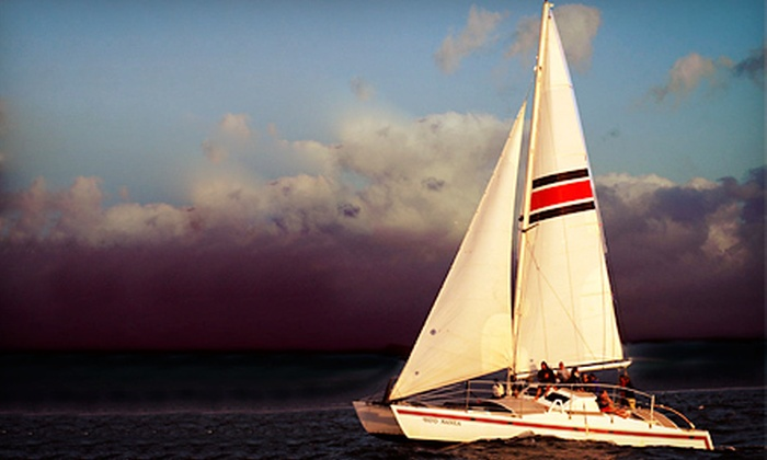 North Shore Catamaran Charters - North Shore/ Oahu: Sunset Cruise for an Adult or Child from North Shore Catamaran Charters (Up to 59% Off)