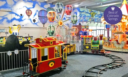One Day of Unlimited Indoor Kids' Amusement Rides with Optional LED Wand at Lollipop Park (Up to 48% Off)