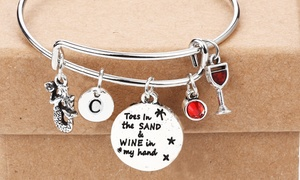 "Up to 93% Off ""Toes in the Sand, Wine in Hand"" Custom Bracelets"