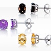 $12.99 for Genuine Gemstone Stud Earrings